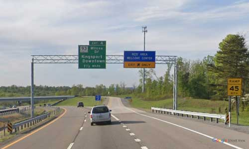 tn-i24 tennessee kingsport sullivan county welcome center westbound mile marker 5
