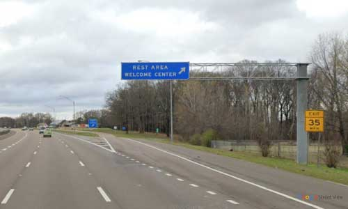 tn i55 tennessee memphis shelby county welcome center northbound mile marker 3.1